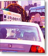 San Francisco Traffic Jam Metal Print by Artist and Photographer Laura Wrede