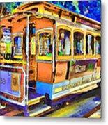 San Francisco Trams 1 Metal Print by Yury Malkov