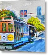San Francisco Trams 4 Metal Print by Yury Malkov