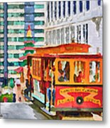 San Francisco Trams 6 Metal Print by Yury Malkov