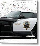 San Luis Obispo County Sheriff Viper Patrol Car Metal Print by Tap On Photo
