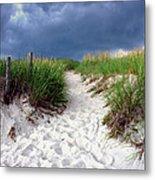 Sand Dune Under Storm Metal Print by Olivier Le Queinec