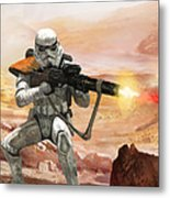 Sand Trooper - Star Wars The Card Game Metal Print by Ryan Barger