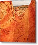 Sandstone Bowl Metal Print by Inge Johnsson