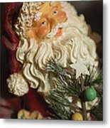 Santa Claus - Antique Ornament - 18 Metal Print by Jill Reger
