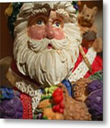 Santa Claus - Antique Ornament - 20 Metal Print by Jill Reger