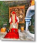 Santa Claus Metal Print by George Rossidis