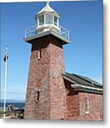 Santa Cruz Lighthouse Surfing Museum California 5d23937 Metal Print by Wingsdomain Art and Photography