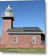 Santa Cruz Lighthouse Surfing Museum California 5d23942 Metal Print by Wingsdomain Art and Photography