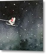 Santa Is Coming Metal Print by Yoshiko Mishina