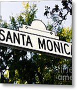 Santa Monica Blvd Street Sign In Beverly Hills Metal Print by Paul Velgos