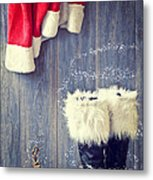 Santa's Boots Metal Print by Amanda And Christopher Elwell