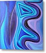 Sapphire Passion - Luminescent Light Metal Print by Daina White