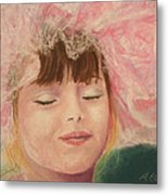 Sassy In Tulle Metal Print by Marna Edwards Flavell