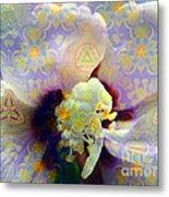 Satin Flower Fractal Kaleidoscope Metal Print by Renee Trenholm