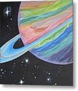 Saturn Metal Print by Evie Giaconia