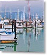 Sausalito Harbor California Metal Print by Marianne Campolongo