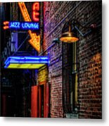 Scat Lounge Living Color Metal Print by Joan Carroll