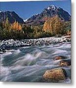 Scenic Of Granite Creek In Autumn Sc Metal Print by Calvin Hall