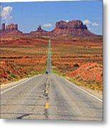 Scenic Road Into Monument Valley Metal Print by Johnny Adolphson