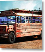 School Bus 5d24927 Metal Print by Wingsdomain Art and Photography