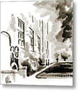 School Days At Ursuline II Metal Print by Kip DeVore