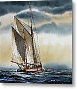 Schooner Metal Print by James Williamson
