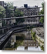 Schuylkill Canal In Manayunk Metal Print by Bill Cannon
