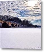 Schuylkill River - Frozen Metal Print by Bill Cannon