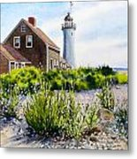 Scituate Light By Day Metal Print by Karol Wyckoff