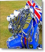 Scooter Dressed For Going Out Metal Print by Steve Kearns