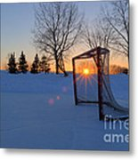 Scoring The Sunset Metal Print by Darcy Michaelchuk