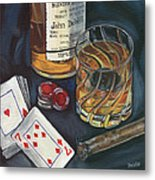 Scotch And Cigars 4 Metal Print by Debbie DeWitt