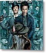 Scottish Terrier Art Canvas Print - Sherlock Holmes Movie Poster Metal Print by Sandra Sij