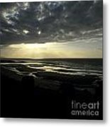 Sea And Stormy Sky Metal Print by Bernard Jaubert