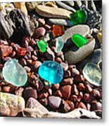 Sea Glass Art Prints Beach Seaglass Metal Print by Baslee Troutman