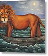 Sea Lion Softer Image Metal Print by Leah Saulnier The Painting Maniac