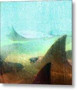 Sea Spirits - Manta Ray Art By Sharon Cummings Metal Print by Sharon Cummings