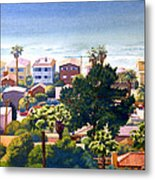 Sea View Del Mar Metal Print by Mary Helmreich