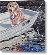 Seadog Metal Print by Danielle  Perry