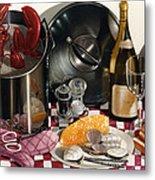 Seafood Serenade 1996  Skewed Perspective Series 1991 - 2000 Metal Print by Larry Preston
