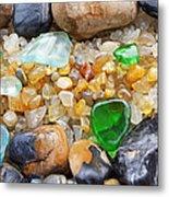 Seaglass Art Prints Coastal Beach Sea Glass Metal Print by Baslee Troutman