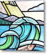 Seascape Metal Print by Gilroy Stained Glass