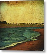 Seaside Beach Photograph Coastal Decor Metal Print by Laura  Carter