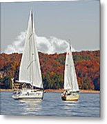 Seasonal Sailing Metal Print by Susan Leggett
