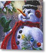 Seasons Greetings Metal Print by Richard De Wolfe