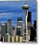 Seattle Skyline Metal Print by Benjamin Yeager