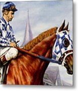 Secretariat At Churchill Metal Print by Thomas Allen Pauly
