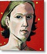 Self Portrait 1995 Metal Print by Feile Case