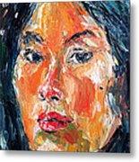 Self Portrait 2013 -3 Metal Print by Becky Kim